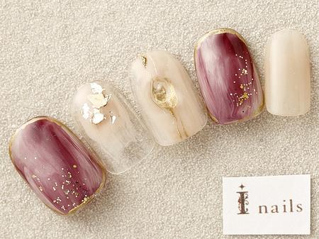 天然石×ニュアンスネイル 【担当】岩本のサムネイル