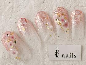 桜グラデネイル