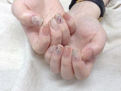 手描きフラワーネイル 【担当】風間