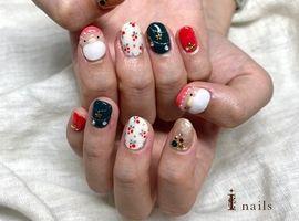 クリスマス☆サンタさんネイル 11000円