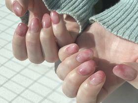 ピンクマーブルネイル 【担当】畑井