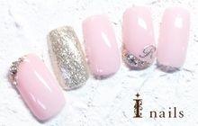 シルバーホロ×ピンクネイル