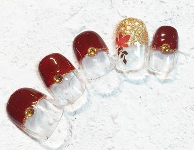紅葉デザインネイルのサムネイル