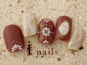 手描きモロッコ&天然石