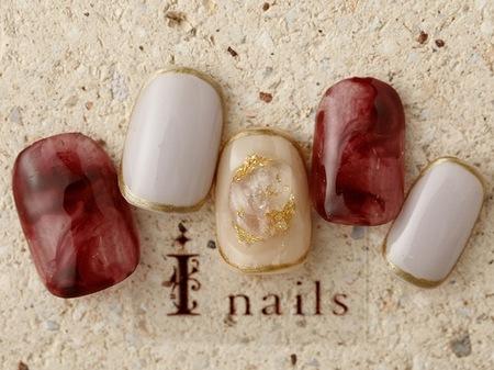 赤べっ甲×天然石のサムネイル