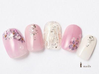 梅雨の紫陽花ネイル 【担当】高松
