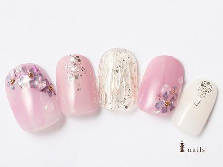 梅雨の紫陽花ネイル 【担当】高松のサムネイル