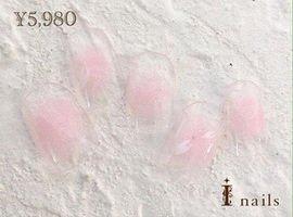 春の桜のチークネイル☆