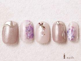 水彩紫陽花ネイル 【担当】泉
