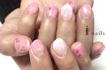 桜グラデーションネイル